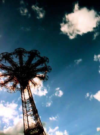 abstracted: Abstracted View of Coney Island Historic Parachute Drop Ride