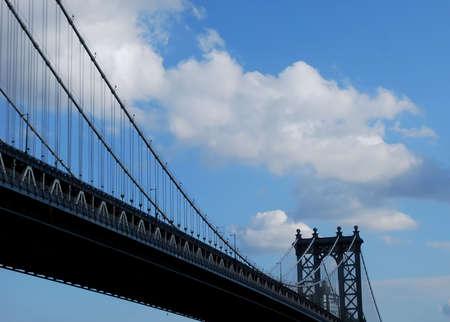 boroughs: View of Manhattan Bridge, New York City Stock Photo