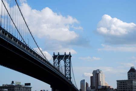 boroughs: View of Manhattan Bridge with Downtown Brooklyn Skyline Behind