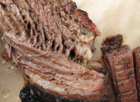 Closeup of Beef Brisket at Southern Barbecue photo