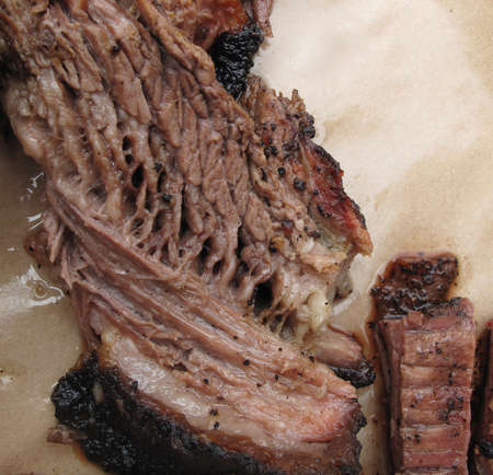 Closeup of Beef Brisket at Southern Barbecue