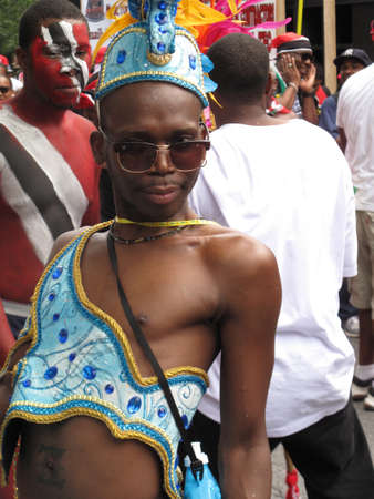 Dancer at the West Indian American Day Carnival and Parade, largest parade in the United States, September 4, 2012, Brooklyn, New York