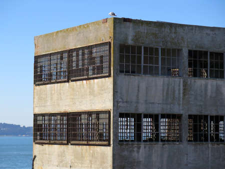 abandoned warehouse: Empty and abandoned industrial warehouse building exterior