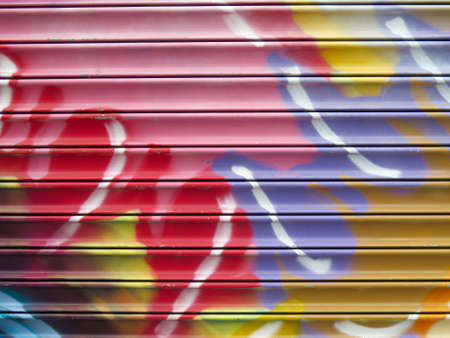 Painted Wall Colorful Abstract Pattern