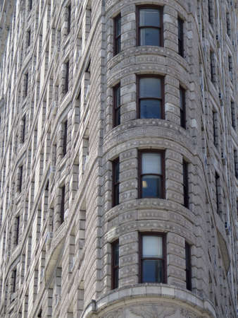 architectural exteriors: Abstract detail of Flatiron Building facade n midtown, New York City
