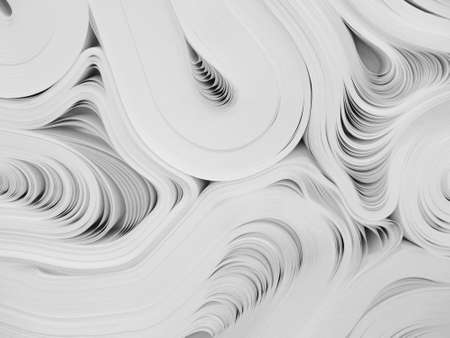 Abstract background of folded reams of crisp white paper