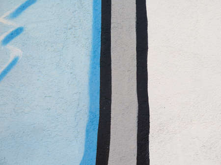 abstracted: Painted Wall: Colorful Vertical Abstract Pattern in Detail of