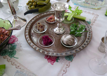plate: Holidays: Traditional Seder Plate for Passover Meal
