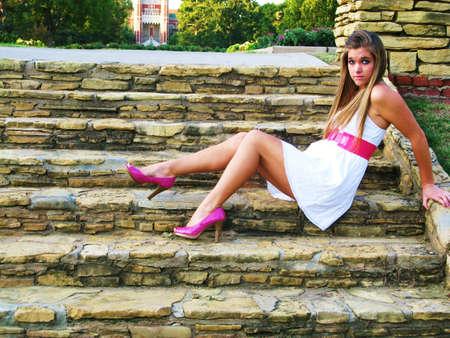 staircase girl