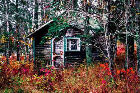 minnesota: Cabin in the Northwoods of Minnesota Stock Photo