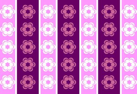 symmetrical: Drawing symmetrical flowers imitating retro wallpaper pink and purple