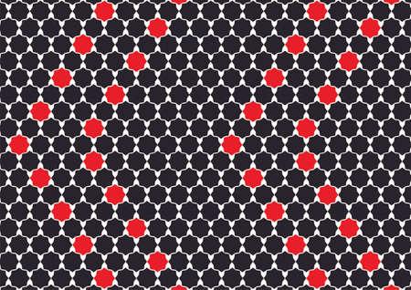 berber: Simple design inspiration polygons Arabic black and red Illustration