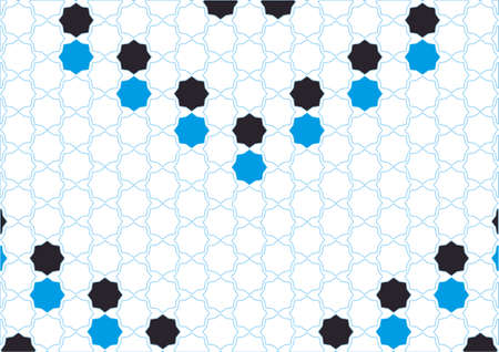 berber: Simple design polygons cyan and black Arabic inspiration