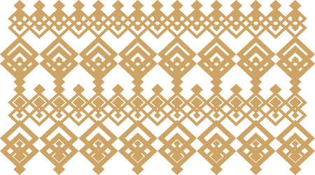 Elegant decorative border made up of square golden and white 13