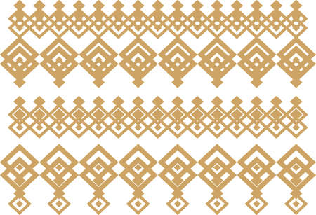 Elegant decorative border made up of square golden and white 15 Vectores