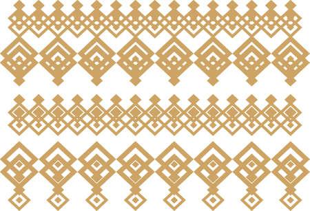 borde decorativo elegante compone de oro cuadrado y blanco 15