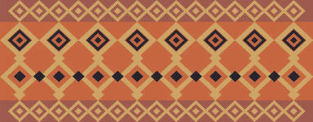 Elegant decorative border made up of square golden, black and dark red Vectores