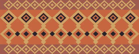 Elegant decorative border made up of square golden, black and dark red Illustration
