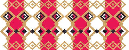 borde decorativo elegante formado por cuadrados de oro rojo, negro y la luz