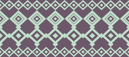 Elegant decorative border made up of square light green and dark blue Illustration