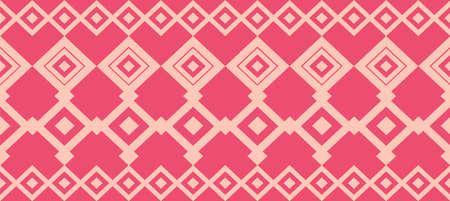 cenefas: borde decorativo elegante compone de cuadrados de color rosa y se levantó