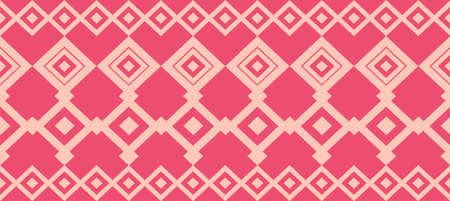 borde decorativo elegante compone de cuadrados de color rosa y se levantó