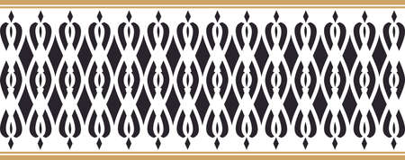 Elegant decorative border made up of black and golden colors Vectores