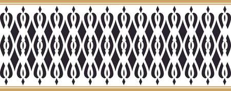 borde decorativo elegante compuesta por los colores negro y dorado