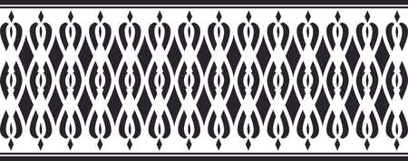 Elegant decorative border made up of black colored Vectores