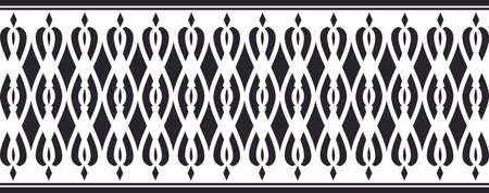 borde decorativo elegante compone de color negro