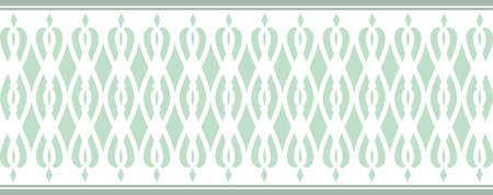 Elegant decorative border made up of Several green colors Vectores