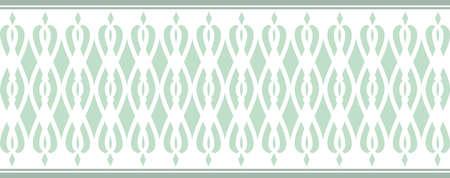borde decorativo elegante compone de varios colores verdes
