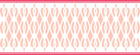 Elegant decorative border made up of Several pink colors