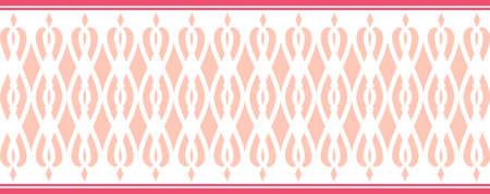 borde decorativo elegante compone de varios colores rosa