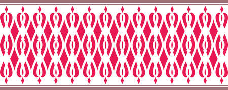 Elegant decorative border made up of network Several colors