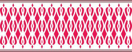 bordure décorative élégante composée de réseau Plusieurs couleurs