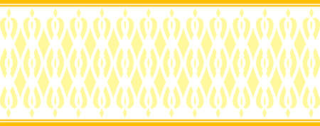 Elegant decorative border made up of yellow colors Several