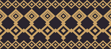 Elegant decorative border made up of square golden and black 17 Vectores