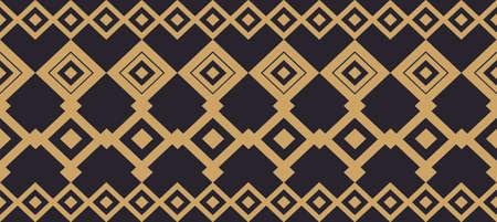 borde decorativo elegante compone de oro cuadrado y negro 17
