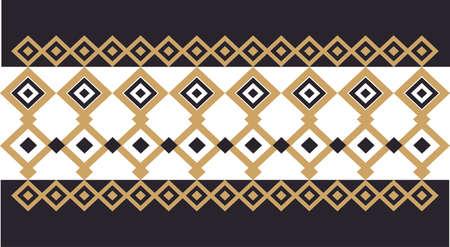 Elegante frontera decorativa compuesta de cuadrados de oro y negro 20