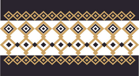Elegant decorative border made up of square golden and black 20