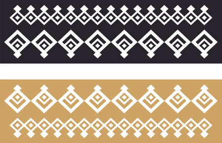 Elegant decorative border made up of square golden and black 22