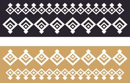 borde decorativo elegante compone de oro cuadrado y negro 22