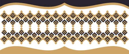 borde decorativo elegante compone de oro cuadrado y negro