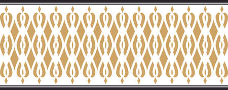 Elegant decorative border made up of golden and black colors Vectores