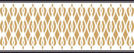borde decorativo elegante compuesta por los colores de oro y negro