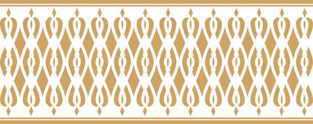 Elegant decorative border made up of golden colored Vectores