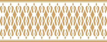 borde decorativo elegante compone de color dorado