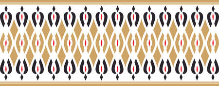 Elegant decorative border made up of golden red and black colors
