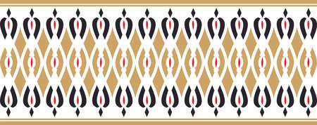 borde decorativo elegante compuesta por los colores rojo y negro de oro